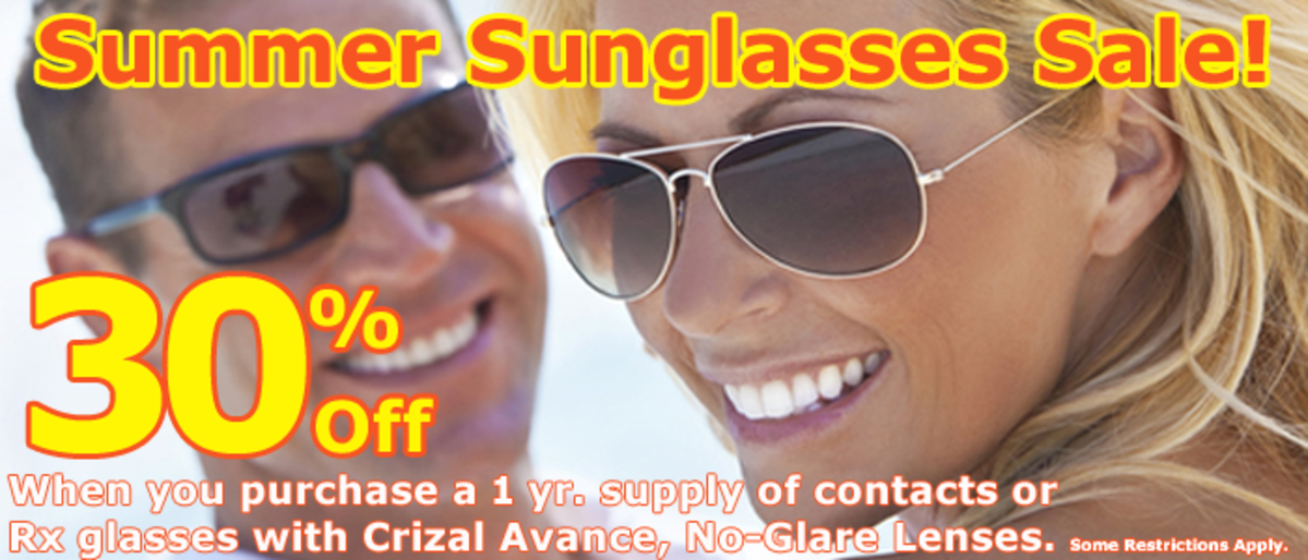 SUMMER SUNGLASSES SALE - Save 30%