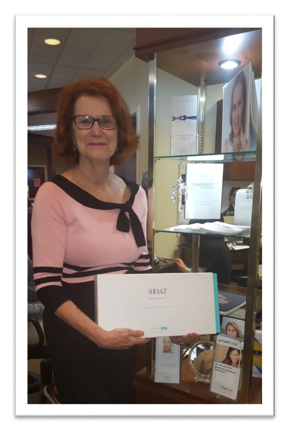 CONGRATULATIONS TO OUR OBAGI GIFT BASKET WINNER!