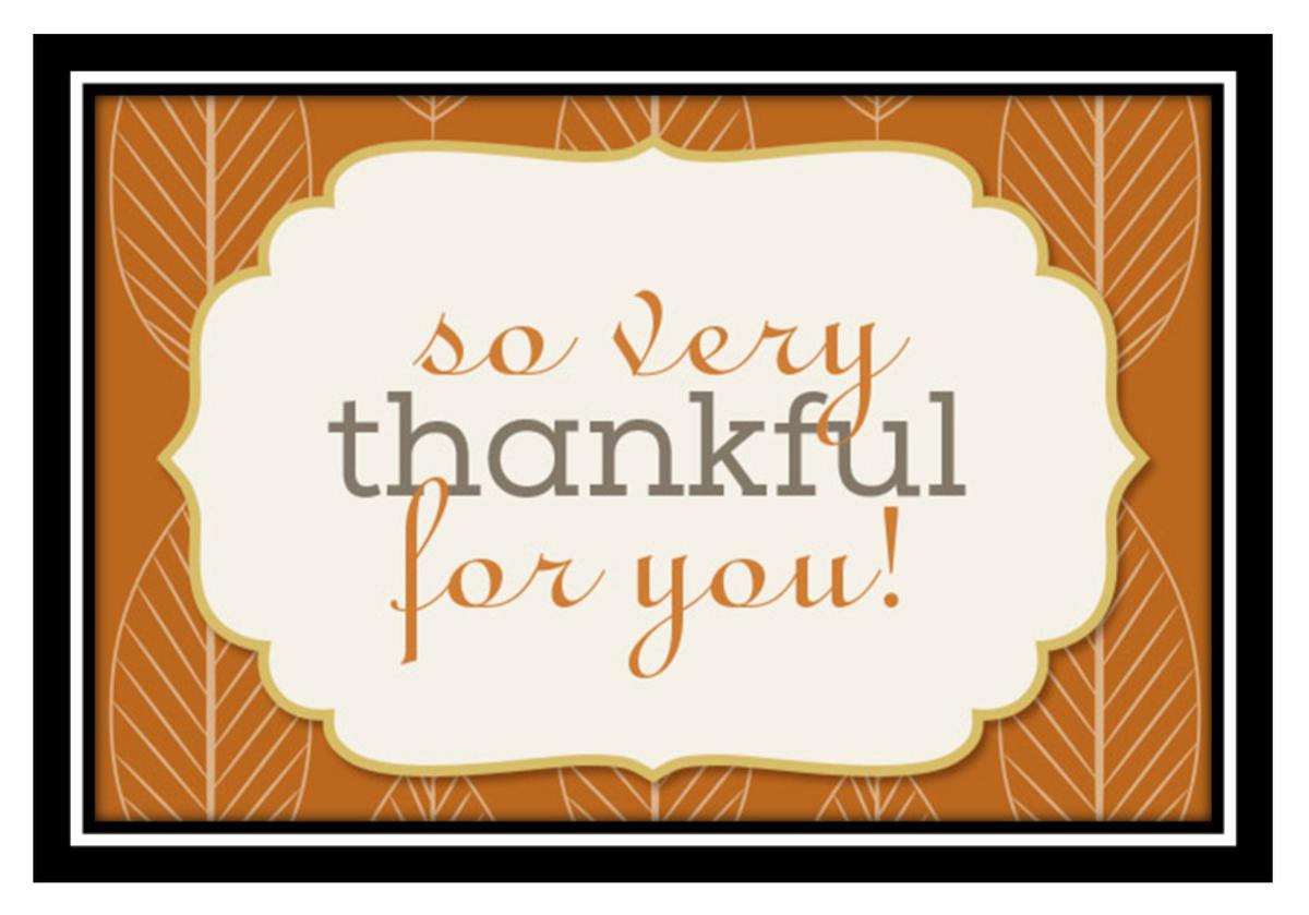 Happy Thanksgiving from the Williamson Allemond Regional Eye Center
