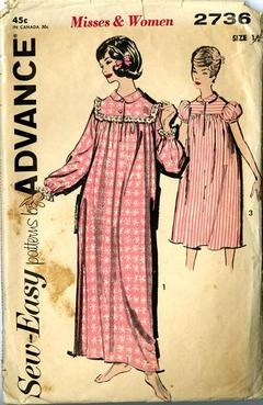 1950 s Sew-Easy Advance  2736 Vintage Sewing Pattern b67f58cca