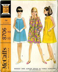 e5dc28e17e 1967 McCall s  8706 Vintage Sewing Pattern