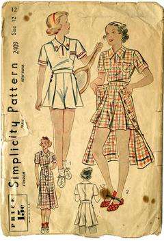 Simplicity Crafts Sewing Pattern 1955 Doll Clothes Wedding Dress /& Casual...