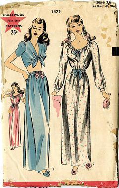 5a064417 Vintage Pattern Warehouse, vintage sewing patterns, vintage fashion,  crafts, fashion - Hollywood Pattern