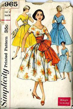 ac36eafa813 1957 Simplicity  1965 Vintage Sewing Pattern