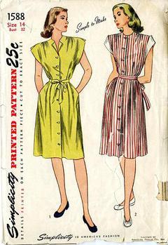 29e052691de 1946 Simplicity  1588 Vintage Sewing Pattern