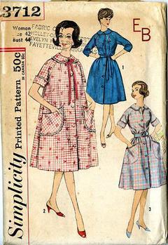 db16360765 1960 Simplicity  3712 Vintage Sewing Pattern