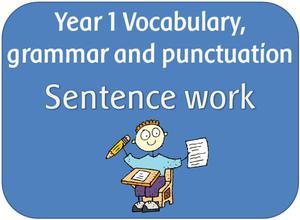 Y1 Sentence work