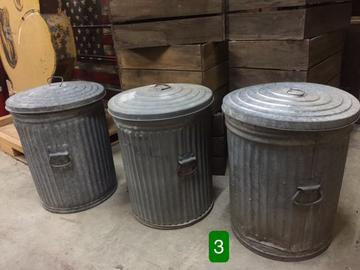 Trash Cans Pactor Old Can Vine Military Barrel Army Metal Waste Bin