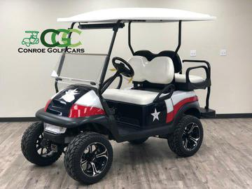 custom texas lifted golf cart