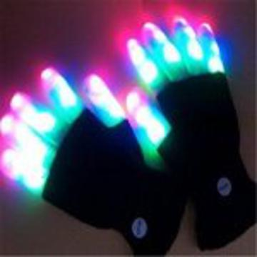 Moonlight Mitts Multicolor LED Black Gloves