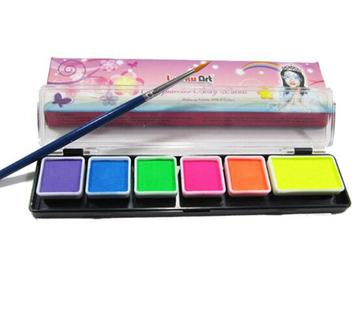 Kryolan Aqua Color Blacklight Fluorescent Body Paint Palette