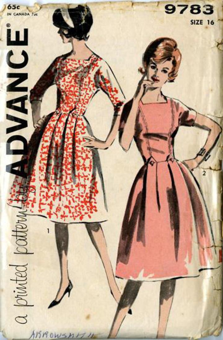 Vintage Style Dress Patterns Plus Size