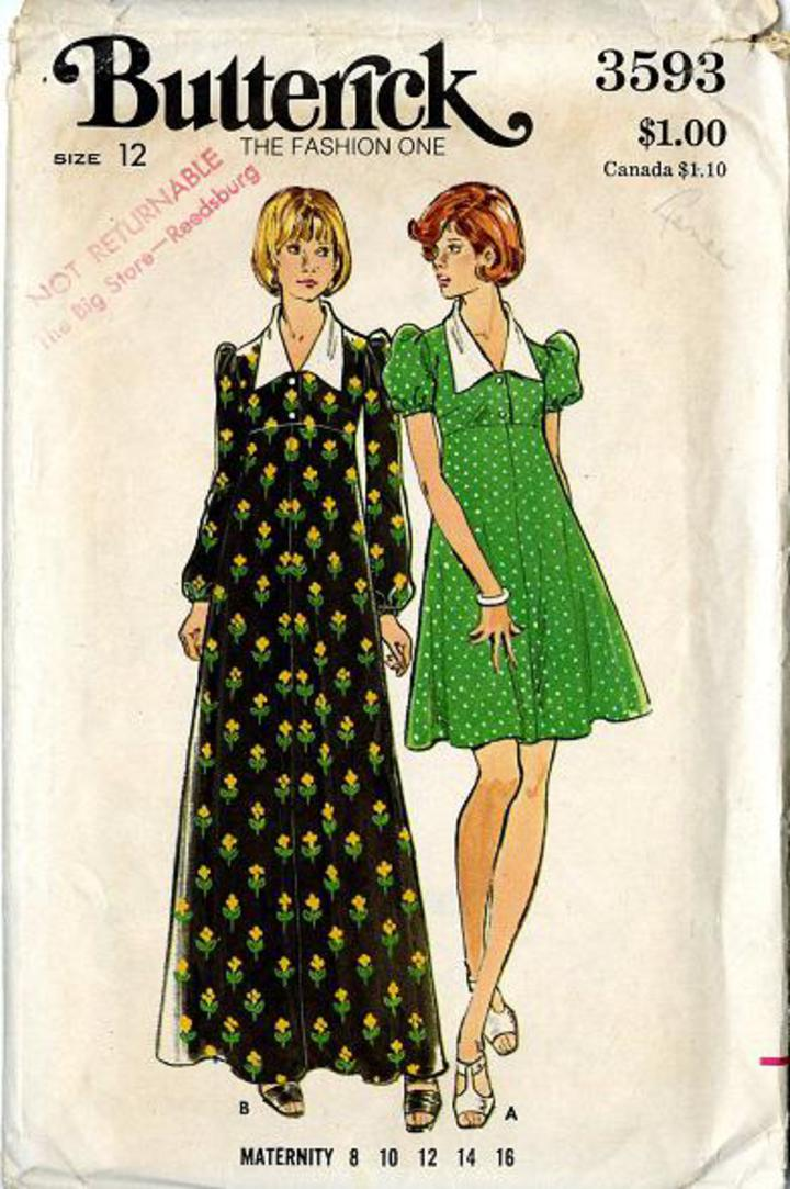 c9e1fe1bf6e 1970 s Butterick  3593 Vintage Sewing Pattern