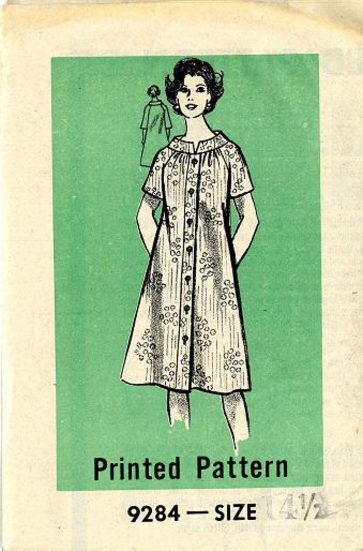 Vintage Pattern Warehouse Vintage Sewing Patterns Vintage Fashion Crafts Fashion 1960 S Mail Order 9284 Vintage Sewing Pattern Misses Day Dress Robe House Coat Muu Muu Size 14 1 2