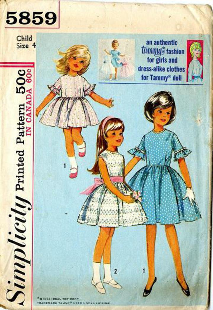 421a5076bfb 1964 Simplicity  5859 Vintage Sewing Pattern