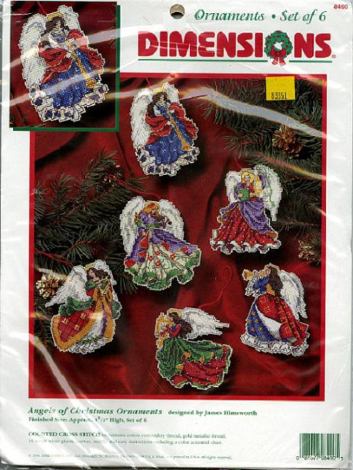 Vintage Pattern Warehouse, vintage sewing patterns, vintage fashion,  crafts, fashion - 1996 Dimensions ANGELS OF CHRISTMAS ORNAMENTS #8490  Counted Cross ...