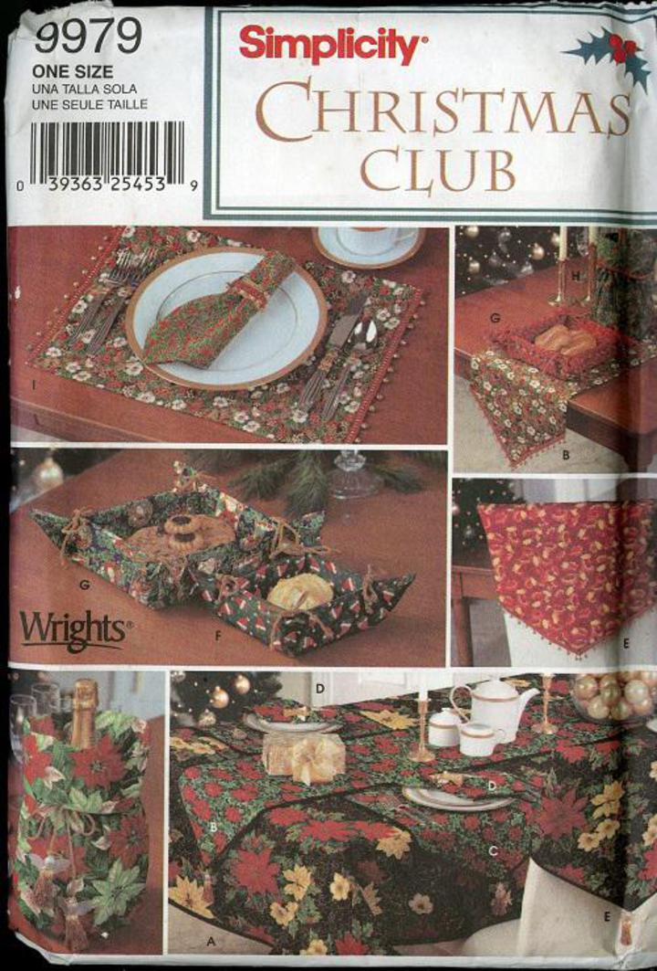 Vintage Pattern Warehouse, vintage sewing patterns, vintage fashion, crafts, fashion - Simplicity Christmas Club #9979 Sewing Pattern, ...