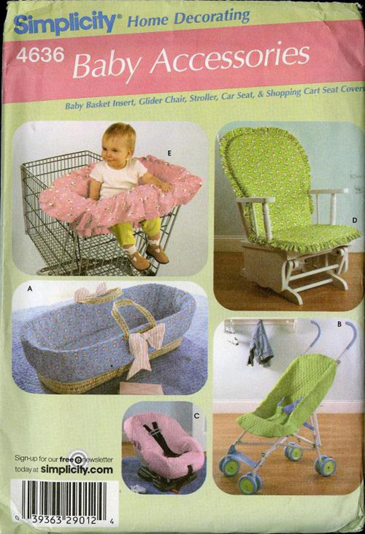 Wondrous Simplicity Home Decorating 4636 Sewing Patter Baby Accessories Baby Basket Insert Glider Chair Stroller Car Seat Shopping Cart Seat Covers Spiritservingveterans Wood Chair Design Ideas Spiritservingveteransorg