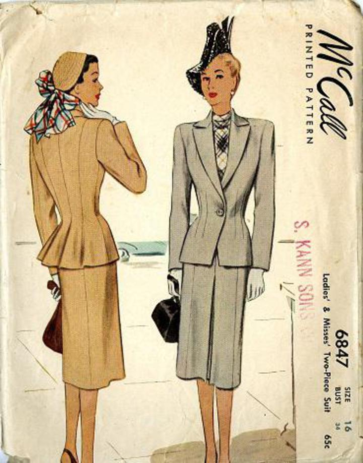 Vintage Pattern Warehouse, vintage sewing patterns, vintage