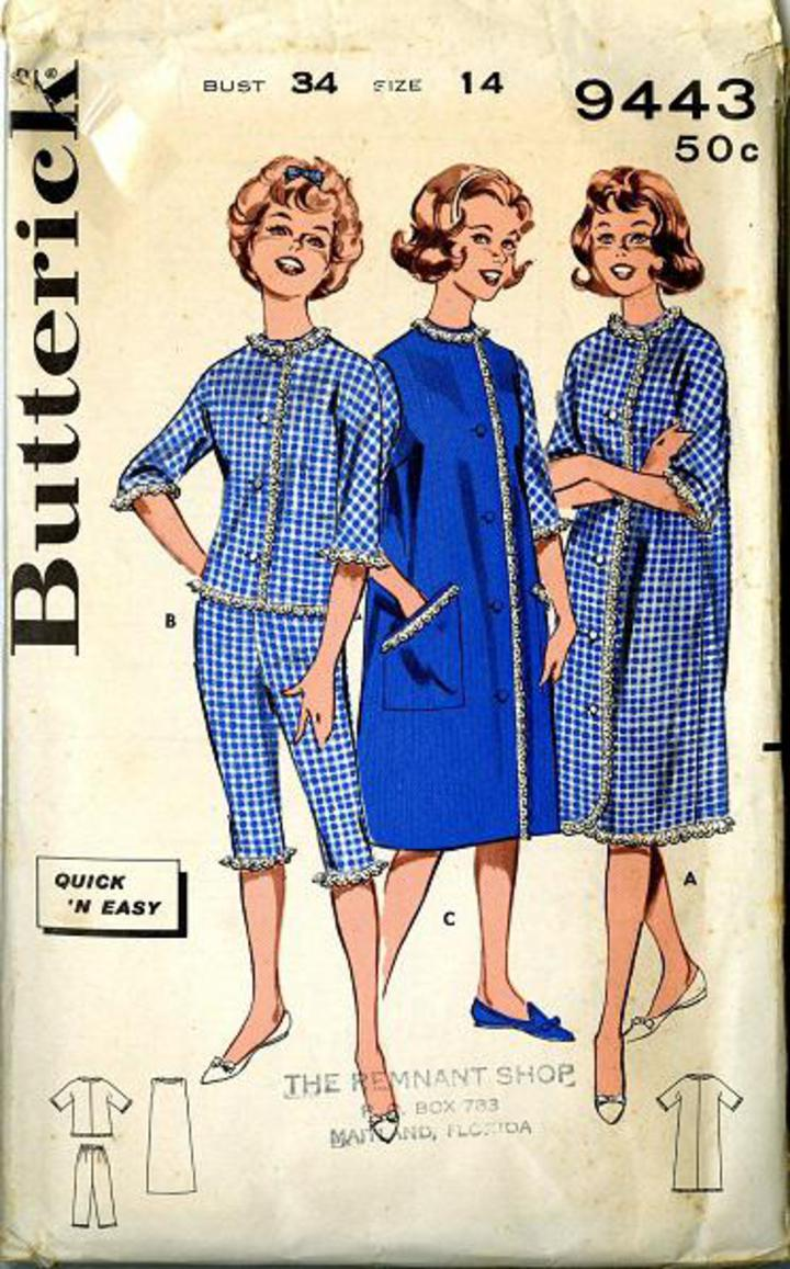1960 s Butterick  9443 Vintage Sewing Pattern 0573f206e