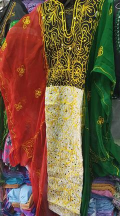 Ladies Adult Size Kuwait Flag Colors Green Red Black White Traditional  Islamic Arabian Khaleeji Thobe Nashal