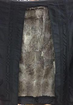 Islamic Arabian Rabbit Fur Lined Winter Farwa Cloak